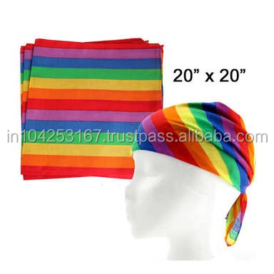 gay pride bandana rainbow design