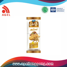 Premium healthy Biscuit Made From oat with special Almond Flavour on Sachet Packa