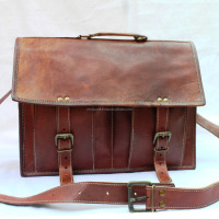 Real Leather Brown Messenger Cross Body