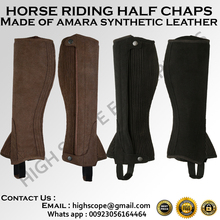 Horse Riding Leather Chaps/ Horse Riding Leather Gaiter made of Amara