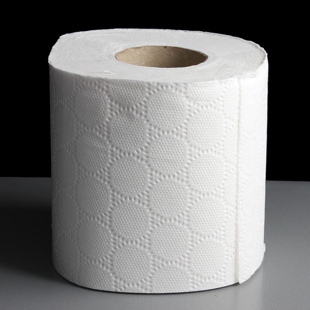 Recycled pulp water soluble toilet tissue