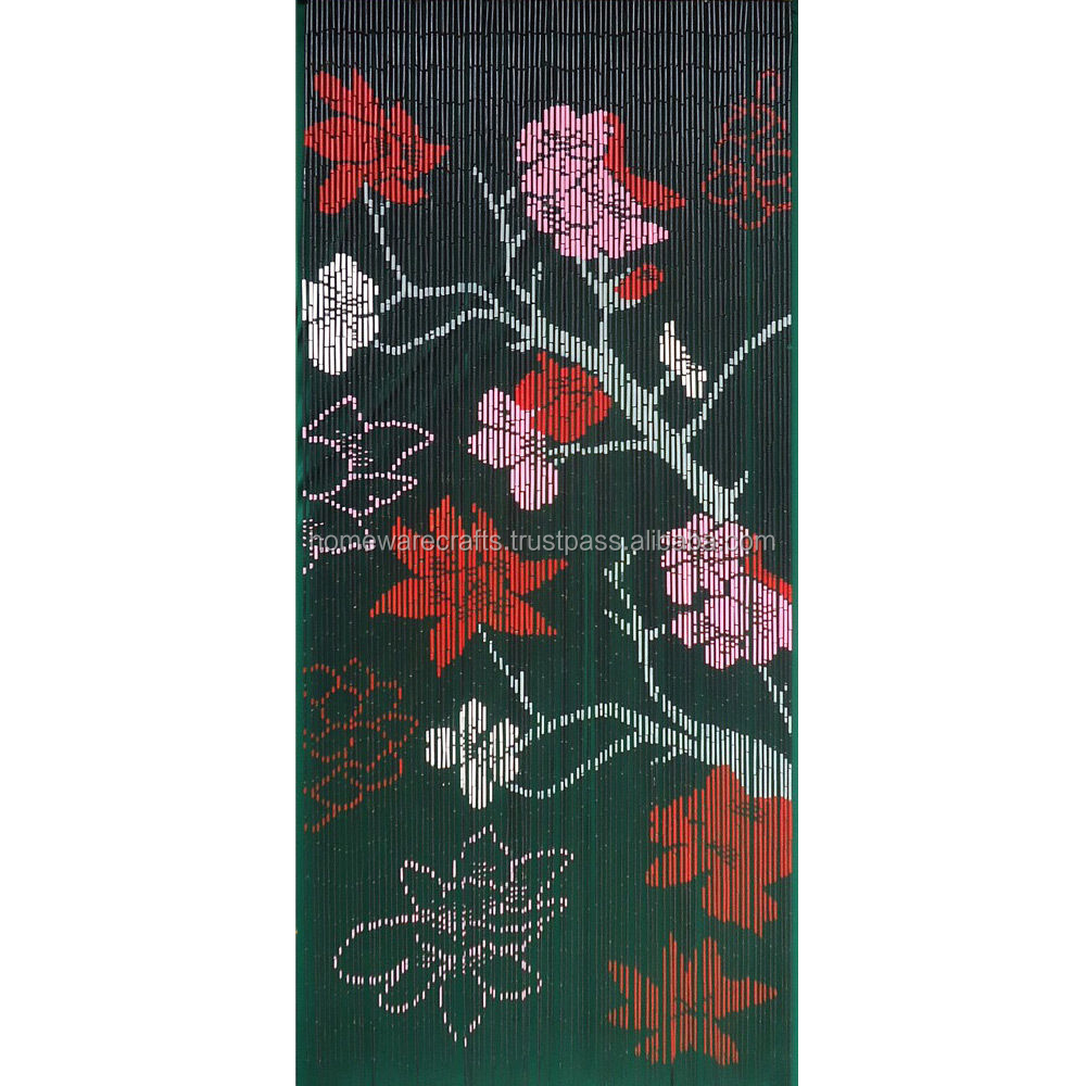 New design handpainted Bamboo curtains made in VietNam/ Window blinds bamboo curtain door curtain