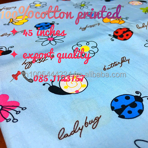 100% COTTON POPLIN PRINTED