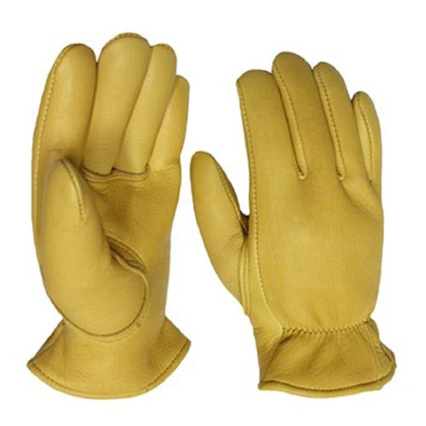 Long Winter Fashion Gloves , Dressing Gloves Tan Genuine Leather Touch Screen Compatible