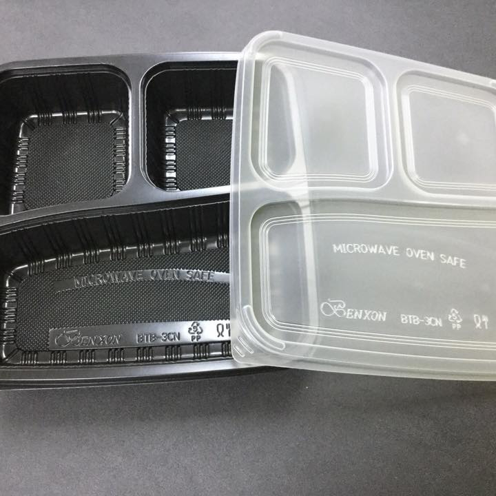 3 Compartment Food Tray