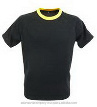Wholesale black & Yellow Striped men's t shirt