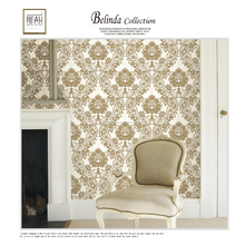2018 Korea Designer wallpaper with Damask Wall paper for wall paper home decoration
