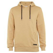 Khaki Color Customized Plain Cotton Fleece Hoodies/Lightweight Embroidered Sweatshirts For Young