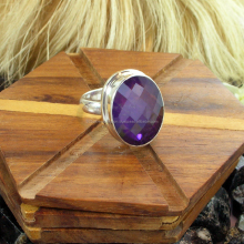 Antique Amethyst Rings / Natural Amethyst / 925 Sterling Silver Rings / Fashion Silver Jewelry