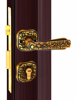 Brass-Paneled Door lock series