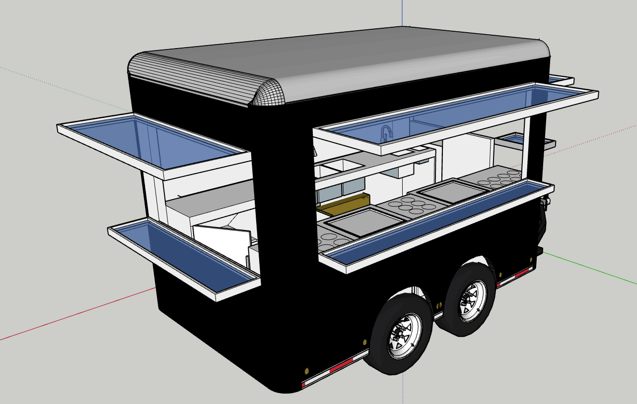 Square Top Outdoor Snack Fast Food Truck/Mobile Food Truck For Sale