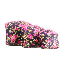 Thailand's Colourful Zippered Quilted Flower Cotton Cosmetic Bags