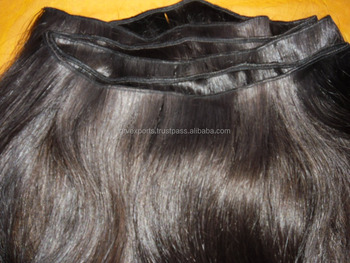 machine weft weft curly from india