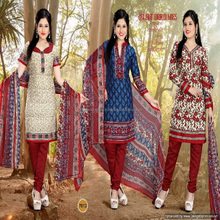 3 top concept cotton printed dress material name of ladies in surat