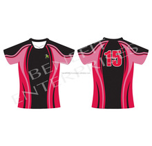 Latest Design Custom 100% Polyester Rugby Shirt