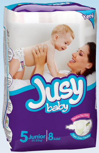 Jusy Baby Diaper Standard Pack Junior Size