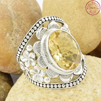 Fantastic yellow citrine gemstone ring 925 sterling silver ring handmade silver jewelry manufacturer