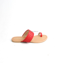 Simple and beautiful women sandals genuine italian leather with hand-woven detail