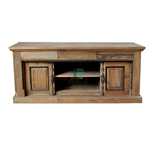 TV stand antique recycled teak indoor furniture with bayonet handles