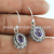 Superb dangle earring amethyst gemstone 925 sterling silver earrings jewelry exporter jaipur