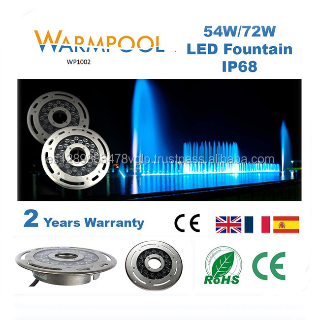 54-72W/24*3W Led Recessed Fountain Light