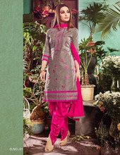 unstitched chanderi cotton salwar suits