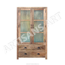 Vintage Solid Wood Glass Cabinet ,Tall Krystal Antique Cabinet, Antique Solid Wood Display Cabinet With Glass Cabinet Frame Door