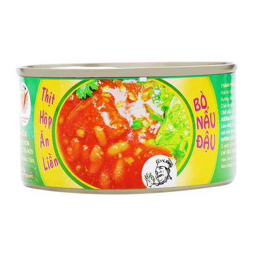 instant canned meat (BEEF COOKED WITH BEANS)