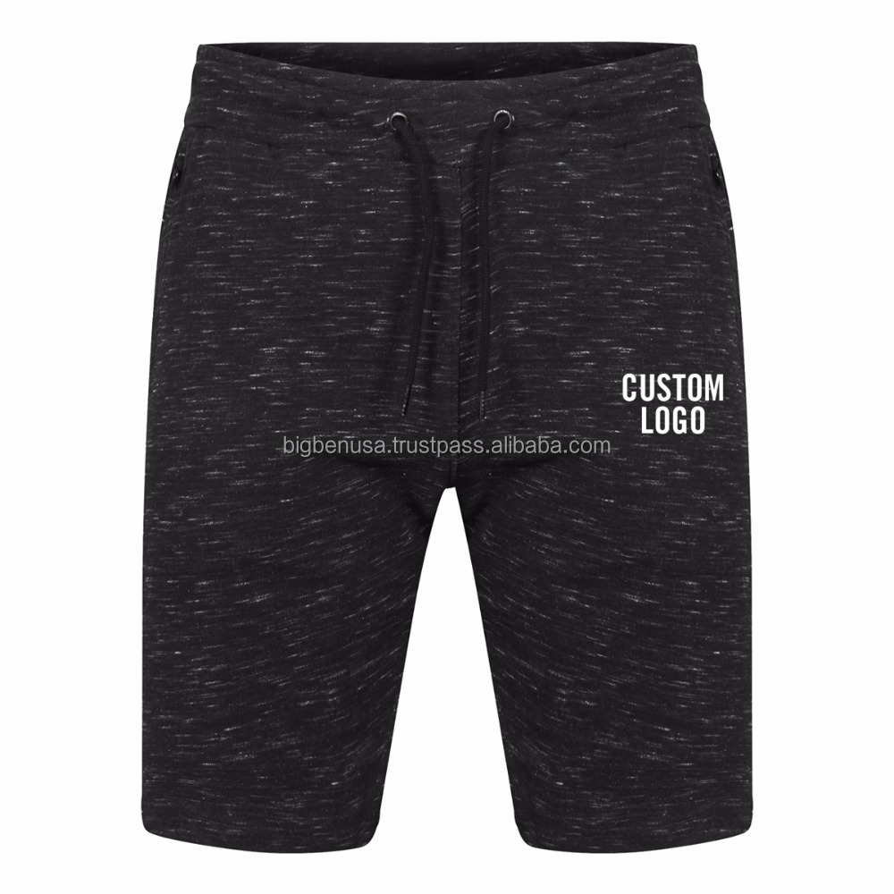 OEM Custom Printed Jogging Running Shorts Men's Gym Fitness Elastic Waist Slim Gym Short