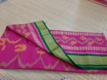 Ikat pink color saree 100% pure silk saree