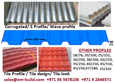 Sourcing metal construction and profile sheets in UAE + 971 55 4863025