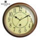 quartz sweep movements antique wooden wall clock