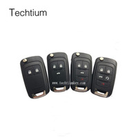Hot Sale 5 buttons car flip key shell Modified car key for chevrolet cruze captiva