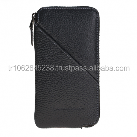 Black leather mobile phone case for iphone X