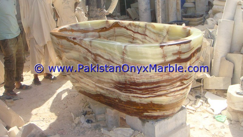 NATURAL COLOR ONYX BATHTUBS COLLECTION