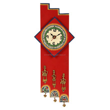Wall Decorative Handcrafted Red wood Wall Clock