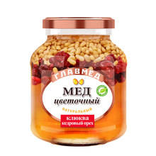 Honey with cranberry and pinenut, best honey in the world