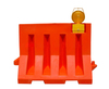 Quality Water Fill Plastic Safety Road Barrier Red Color