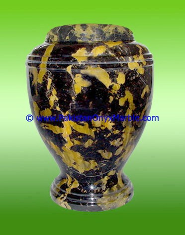 MANUFACTURER AND EXPORTERS OF BLACK AND GOLD MARBLE URNS