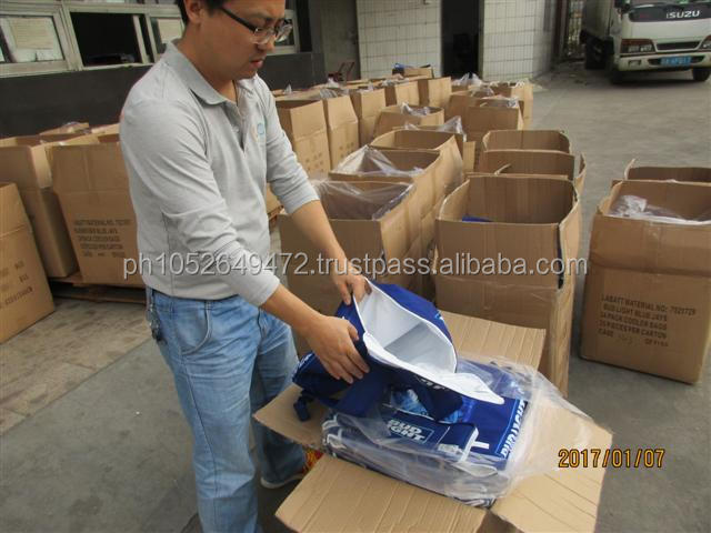 Beer Cooler Bags Pre-Shipment Inspection in China