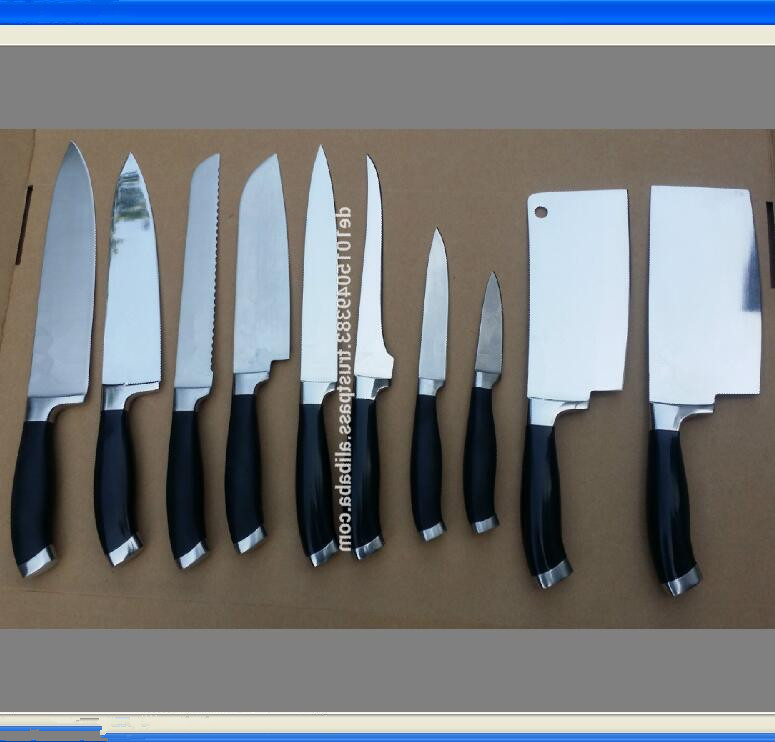 kitchen knife -set of 10 pcs knives set -- ABS handle- Mirror
