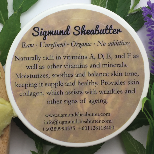 Sigmund Shea Butter Unrefined 100% Organic Natural Raw Shea Butter With Free Sample