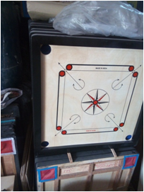 "CARROM BOARD FULL SIZE 2"" BORADER - 6201"