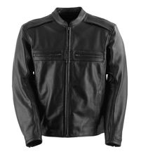 Men's Custom Leather Motorcycle Jacket Long Sleeves Vintage Biker Jacket