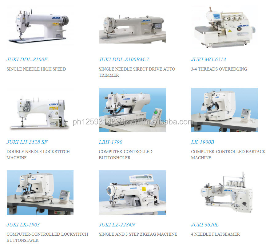 Industrial Sewing Machines and Household Sewing Machine for the Philippines and Asian Market