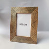 Wooden Photo Frame with brass inlay available in other Work and Wood