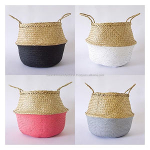 Wholesale cheap seagrass belly basket from Vietnam