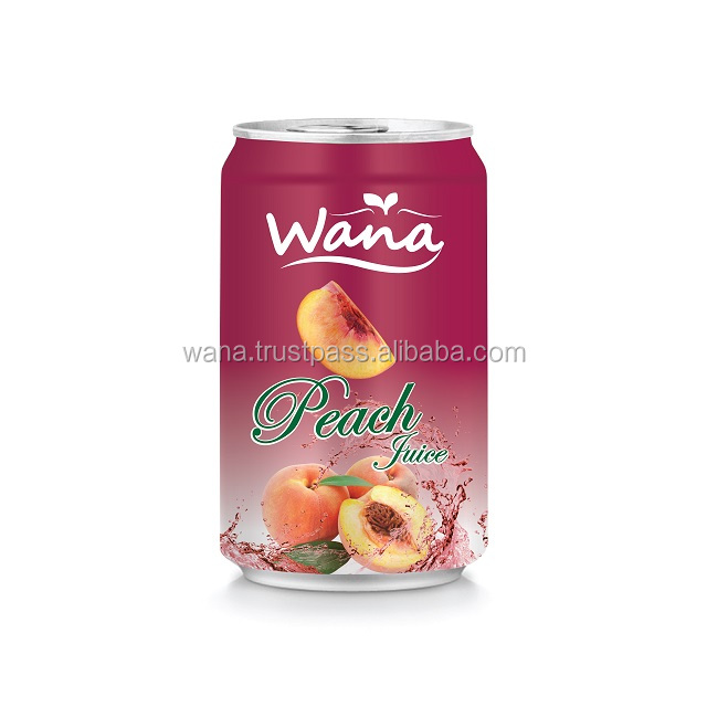WANA Pure Peach Juice Drinks in 330ml Can