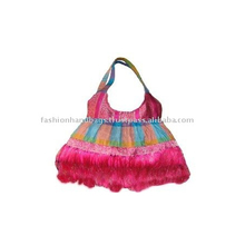 Wholesale India Ethnic Fashion Printed Canvas Handmade Ladies Handbags