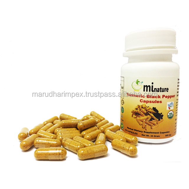 Turmeric Black Pepper Powder Capsules Private Labeling